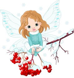 Winter fairy vector
