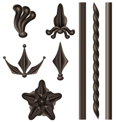 Wrought iron element set vector