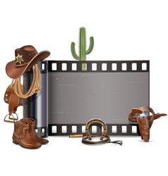 Cowboy Film vector image
