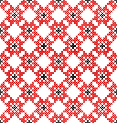 Seamless texture with red and black flowers vector