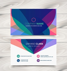 Modern colorful business card template vector