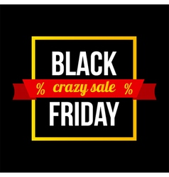 Black friday sale card modern banner template vector