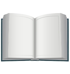 Hardcover open book vector image