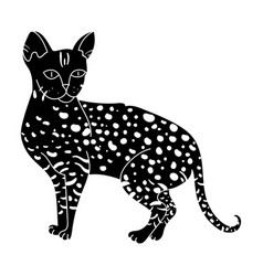 Savannah icon in black style isolated on white vector
