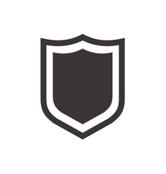 shield icon in trendy flat style isolated on white vector image