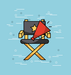 Movies and cinema art concept vector