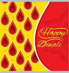 Happy diwali greeting design vector