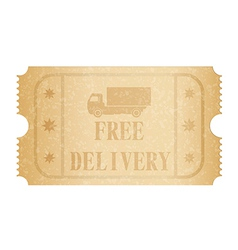 Free delivery ticket vector