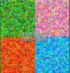 4 seasons geometric seasons patterns vector image vector image