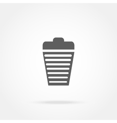 Garbage basket icon vector
