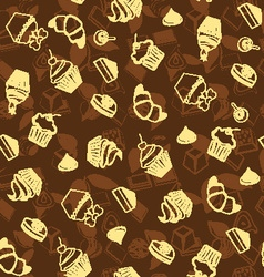 Dessert background sweets and bakery vector