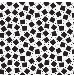 Seamless pattern with black squares vector