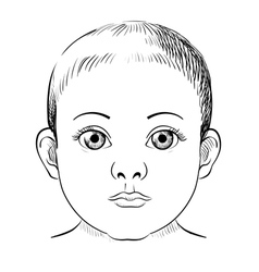 Baby portrait sketch vector
