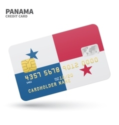 Credit card with panama flag background for bank vector