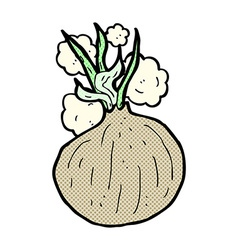 Comic cartoon onion vector