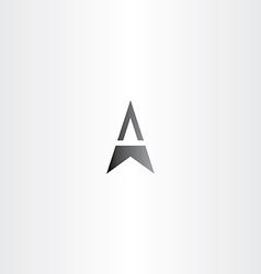 Letter a arrow black symbol vector