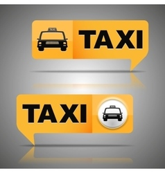 Two taxi banners vector