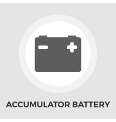 Accumulator battery flat icon vector