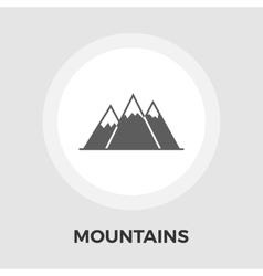 Mountains flat icon vector