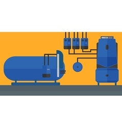 Background of domestic household boiler room vector