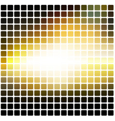 Black yellow white rounded mosaic background over vector