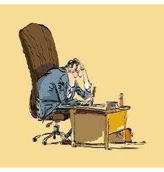 Businessman boss works vector