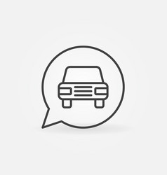 Car in speech bubble icon vector