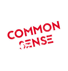 Common sense rubber stamp vector