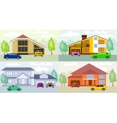 Family homes vector