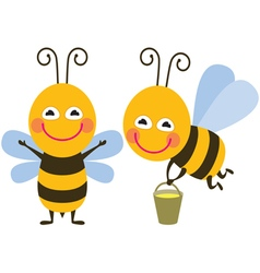 Funny bees vector image