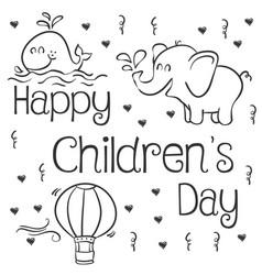 Happy childrens day art vector