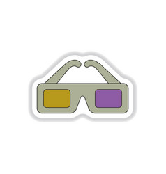 In paper sticker style 3d vector