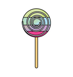 Lollipop candy on stick vector