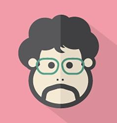Man Single Mans Face Flat Design Icon vector image