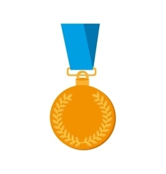 Medal gold award icon graphic vector