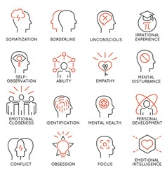 Mental process icons - 1 vector image vector image