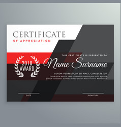 modern certificate template design with geometric vector image vector image