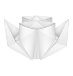 Origami steamship vector