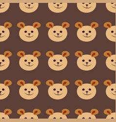 Seamless teddy bear pattern pattern design vector