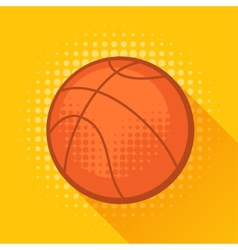 Sports with basketball ball in flat style vector image vector image