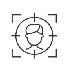 target employee concept thin line icon vector image