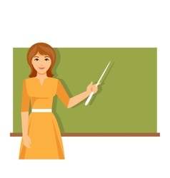 Teacher near blackboard vector image vector image