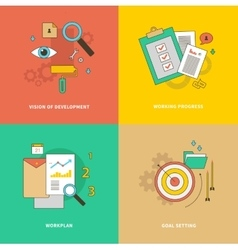 Vision of Development Working Progress Workplan vector image