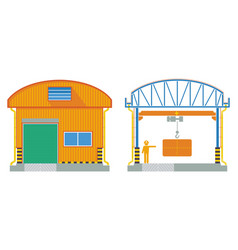 warehouse building cross section factory vector image vector image