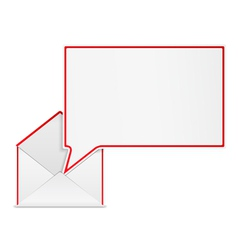Envelope with Speech Bubble vector image