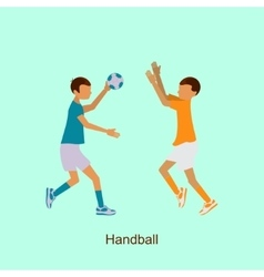Sport people activities icon handball vector