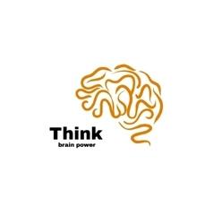 Brain power logo vector image