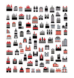 icons set of real estate vector image