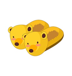 A pair of slippers vector