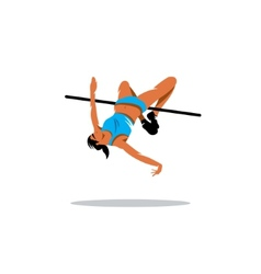 High jump sign vector